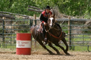Barrel racing at FSF