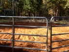 Newly re-done round pen
